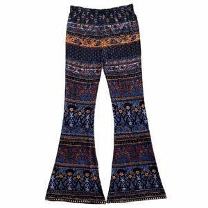 RAGA Mix Print Flare Pants Size Small